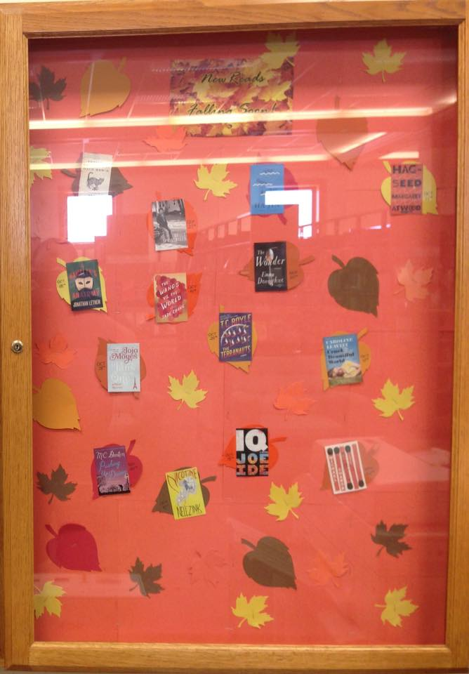 New reads for fall! Check them out in our glass display case.